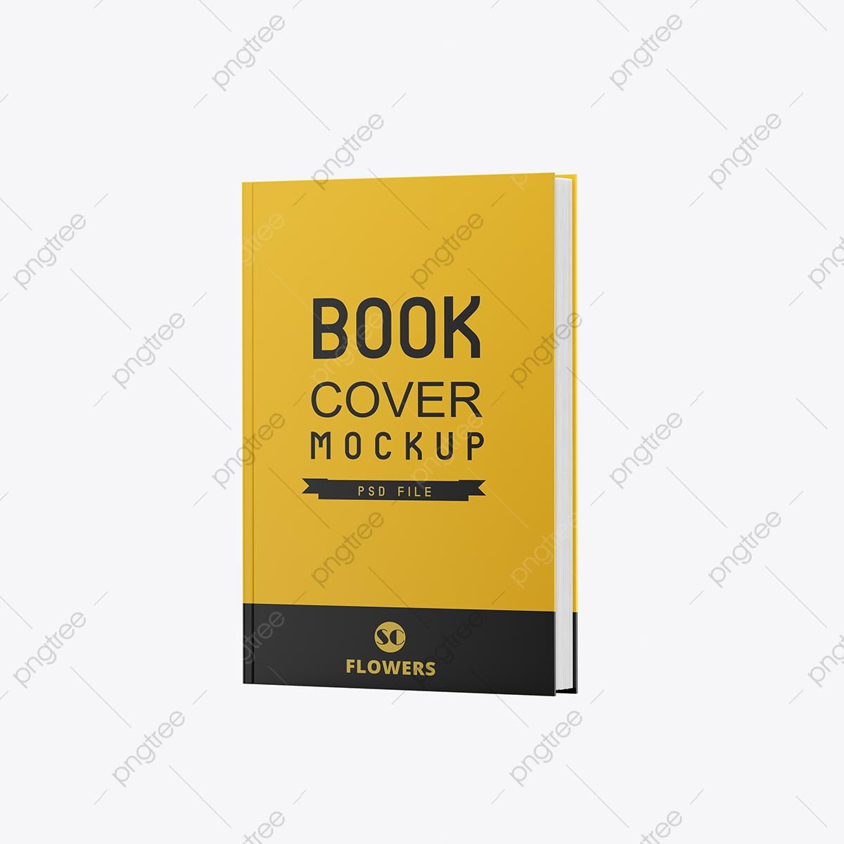 Yellow Book Transparent Background Mockup