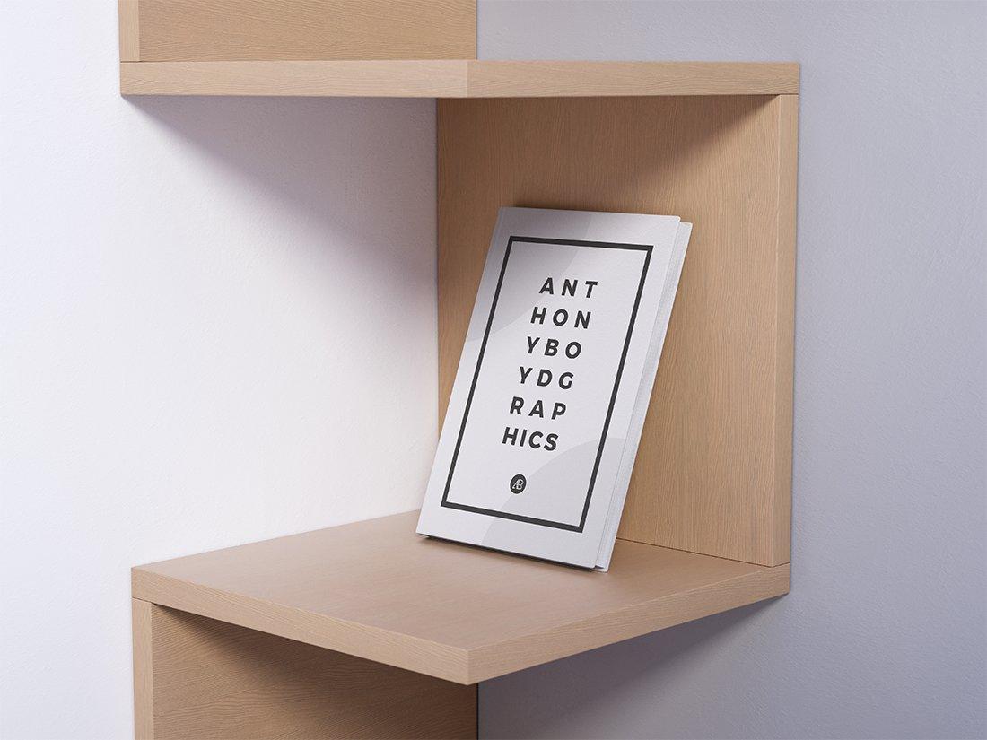 Modern Book on Shelf