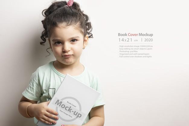 Little Girl holding a Book