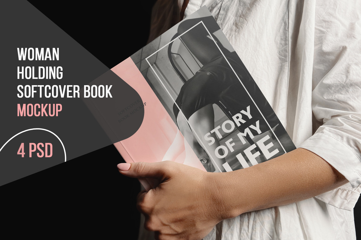 Woman Holding Softcover Book
