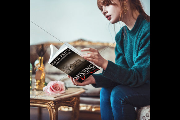 Sitting Woman Reading a Book
