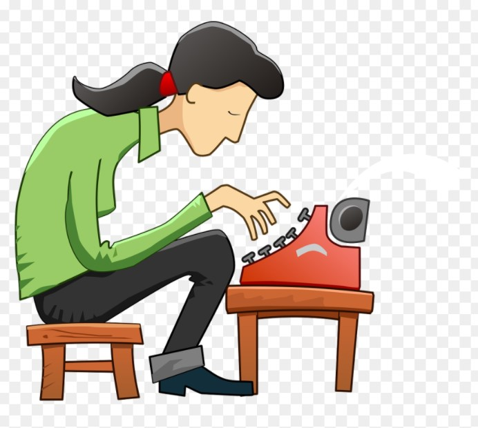 Author Typing Clipart