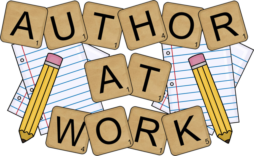 Pencil, Paper and Letters Author Clipart