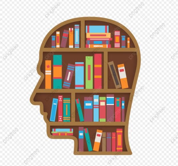 Head Shape Bookshelf Clipart