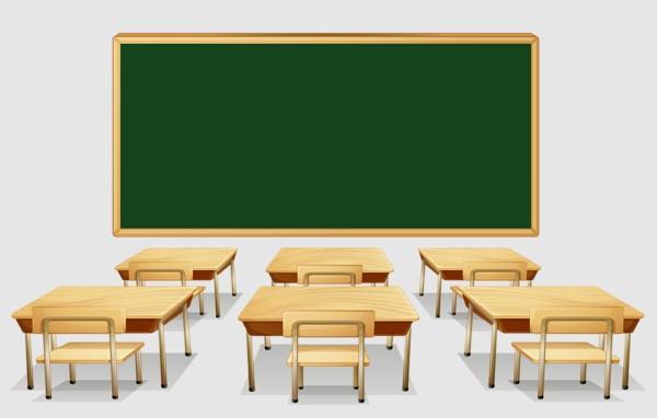 Classroom Desks Clipart