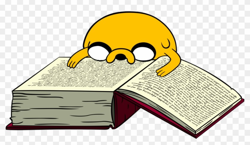 Jake The Dog Reading Clipart