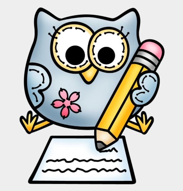 Owl Writing Clipart
