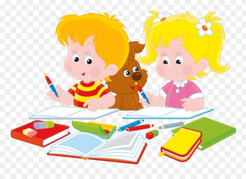 Students Writing Homework