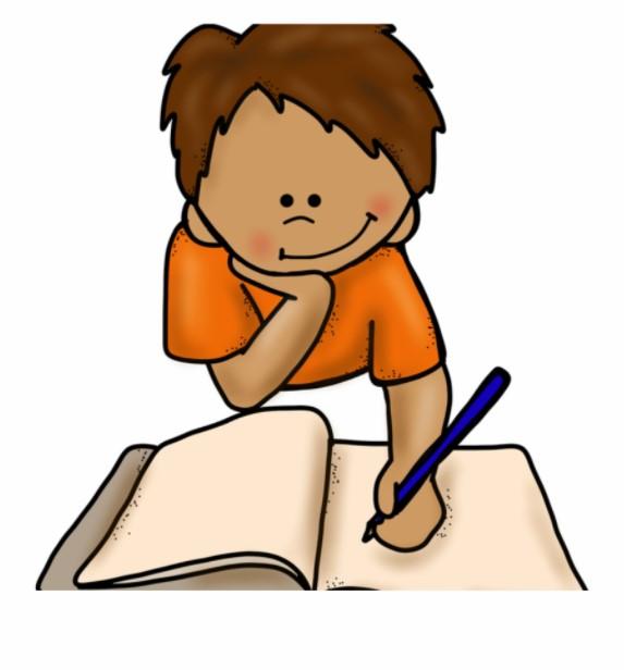 Boy Writing Clipart