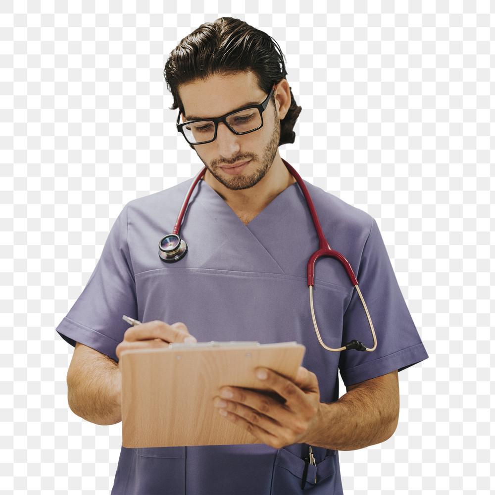 Nurse Writing on a Clipboard Mockup