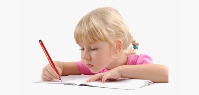 Child Writing Clipart