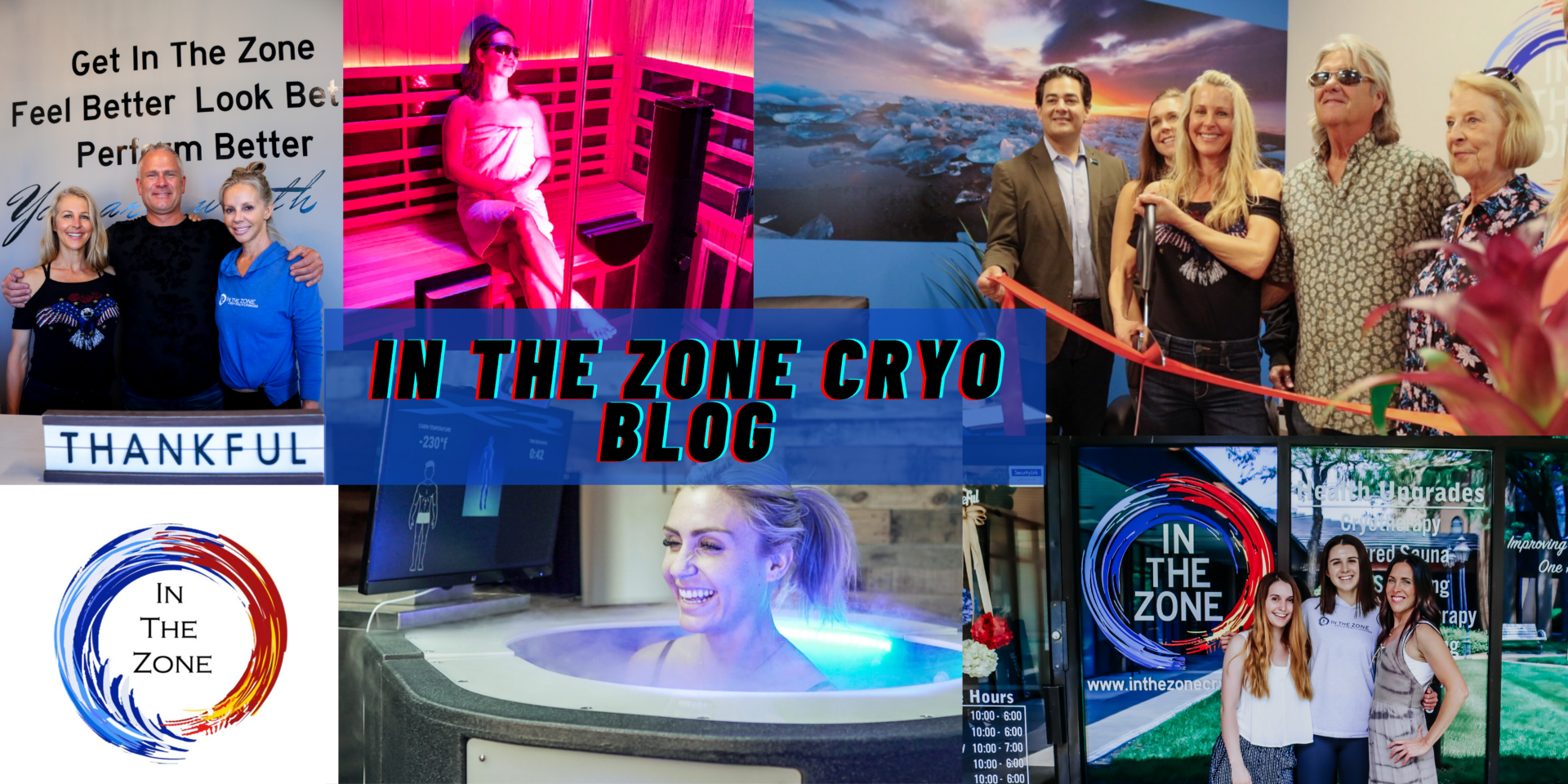 In the Zone Cryo Blog Photo Collage