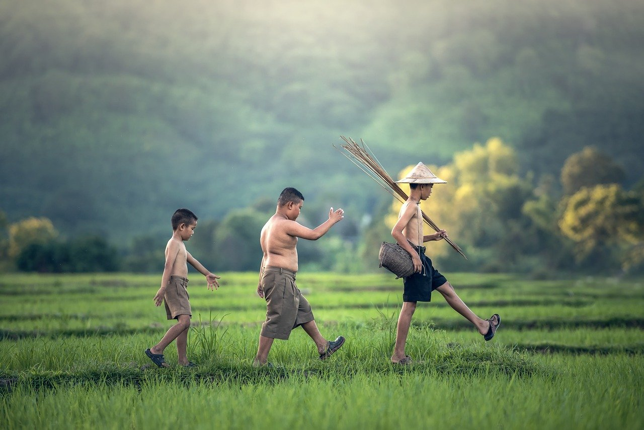 as children, the activity, asia