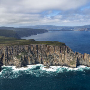 This image is of the Western face of Cape Raoul was taken from a Bell 206 Longranger helicopter over the Tasman Peninsula National Park in Tasmania, Australia.