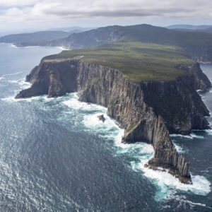 This image is of the both the east and west faces of Cape Raoul was taken from a Bell 206 Longranger helicopter over the Tasman Peninsula National Park in Tasmania, Australia.