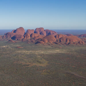 This image of the eastern face of Kata-Tjuta was taken from a helicopter mid morning in Uluru-Kata Tjuta National Park and UNESCO Heritage sitein the Northern Territory, Australia.
