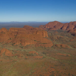This image of the eastern face of Kata-Tjuta was taken from a helicopter mid morning in Uluru-Kata Tjuta National Park and UNESCO Heritage site