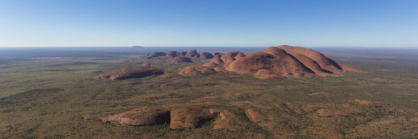 This image of the western face of Kata-Tjuta was taken from a helicopter mid morning in Uluru-Kata Tjuta National Park and UNESCO Heritage site