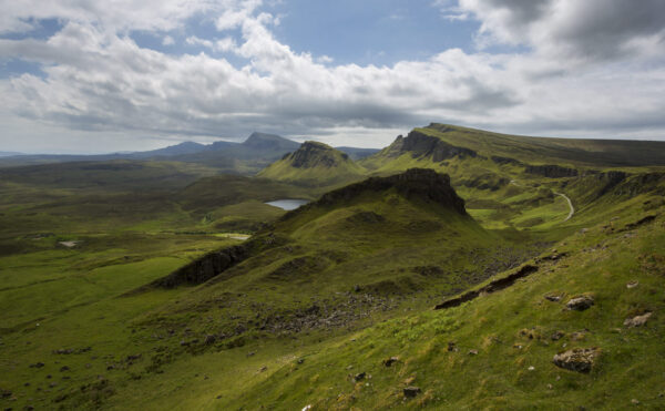 This image of Trotternish Ridge was taken on a day hike of The Quiraing.
