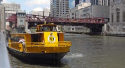Boat taxi on the Chicago River