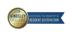 2019 Kingsley Excellence Resident Satisfaction Award logo
