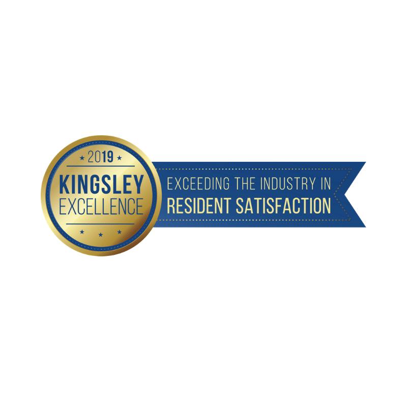 2019 Kingsley Excellence Resident Satisfaction Award logo