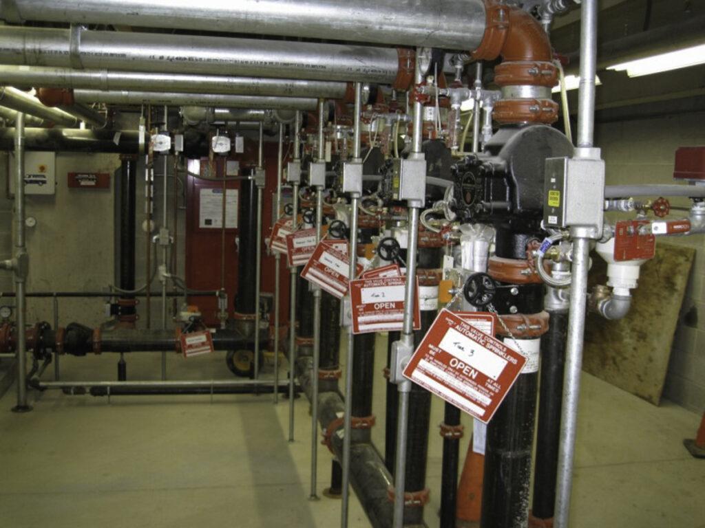 Master Plans Fire Sprinkler Protection Risers