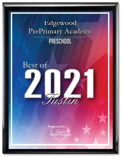 2021 Best of Tustin Award for Preschool
