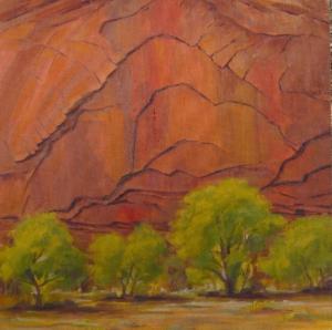 "Canyon Patterns, 12"" x 12"""