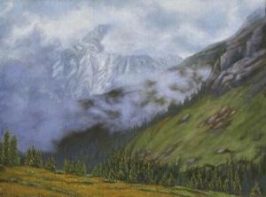 "Capitol Peak Obscured, 24"" x 36"""