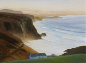 "Cornwall Sunset, 18"" x 24"""