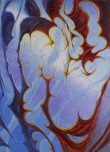 Elysian Dendrites, 60″ x 44″