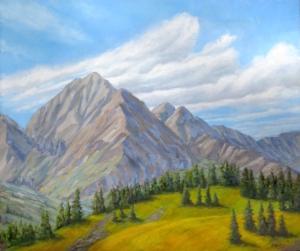 "Emerald Peak 3, 20"" x 24"""