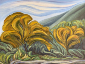 """Emily's Broad Leaves, 18"""" x 24"""""""