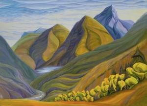 """Mellifluous Mountain, 44"""" x 60"""""""