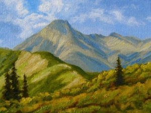 "Mount Daly 2013, 9"" x 12"""