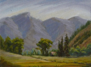 "Snowmass Canyon Morning, 9"" x 12"""
