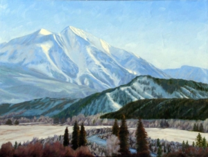 "Sopris Winter, 36"" x 48"""
