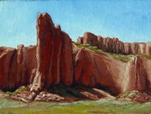 """Tohdildonih Wash Navajo, 9"""" x 12"""""""