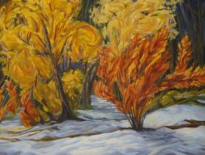 "Vincent' s First Snow, 30"" x 40"""