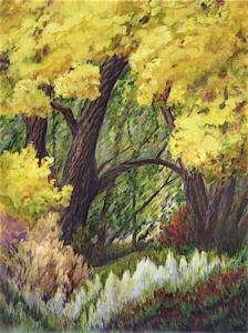 "Willow Window, 48"" x 36"""