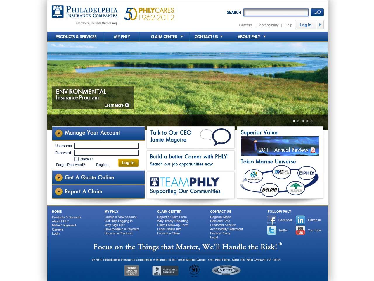 PHLY Home page circa 2012