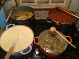 Soup...four ways...NYE!