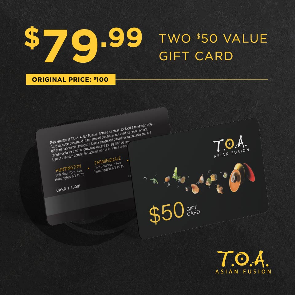 $79.99 for Two $50 Value Gift Card (Original Price $100)