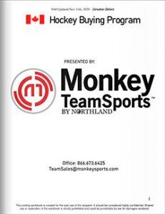 Monkey Sports Team Sales Catalog Cover Canada