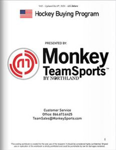 Monkey Sports Team Sales Catalog Cover USA
