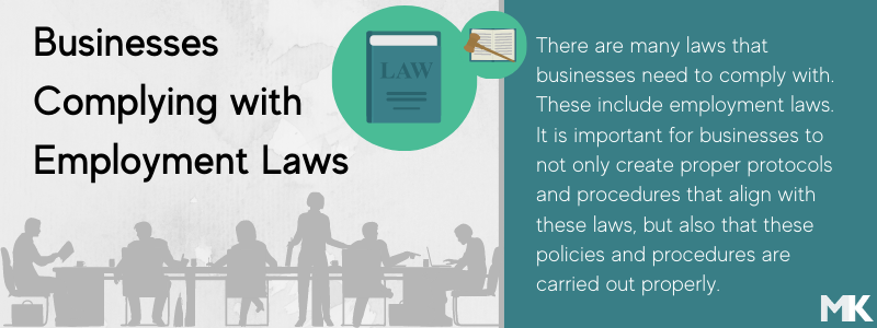 Businesses need to comply with business & employment laws