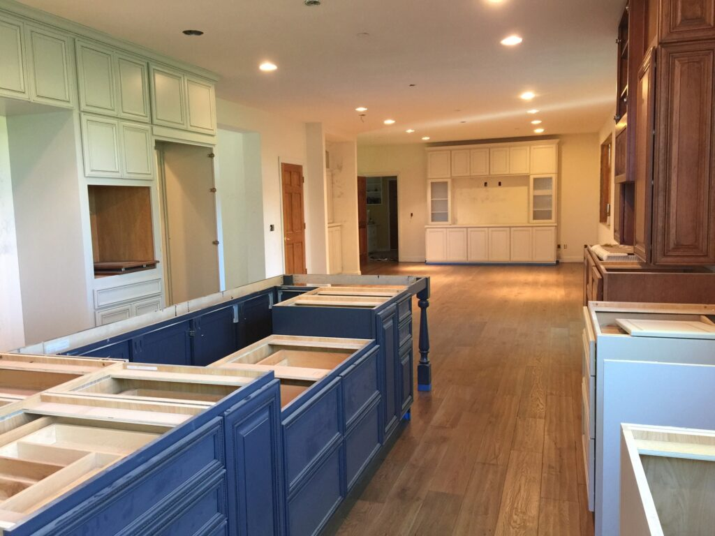 A remodeling project, brand new kitchen. Construction, home remodeling, kitchen remodel.