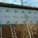 Repairing exterior wooden siding