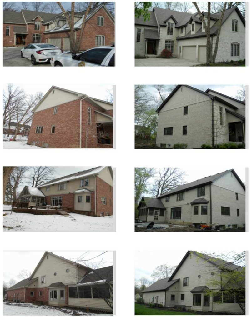 Exterior painting before and after pictures